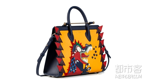 The Strathberry Midi Tote - Embellished Dragon