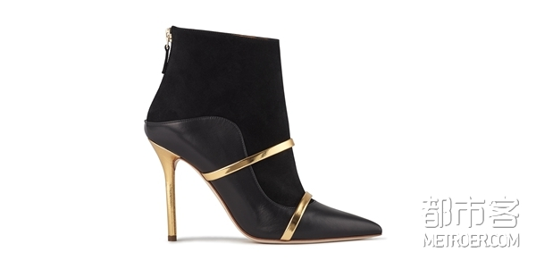 Malone Souliers MADISON 8 BLACK NAPPA GOLD NAPPA SIDE